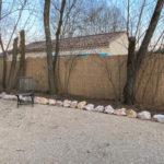 cloture pour jardin en roseaux de camargue paillasson camarguais